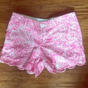 Lilly Pulitzer Buttercup Scalloped Shorts